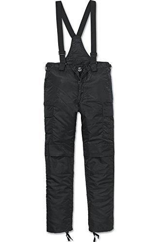 Mit Hosenträgern Kostüm Männer - Brandit Thermohose Next Generation. Warm gefüttert mit Abnehmbaren Hosenträgern - Schwarz 3XL