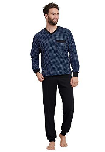 Schiesser Herren lang Zweiteiliger Schlafanzug, Blau (Royal 819), X-Large (Herstellergröße: 106)