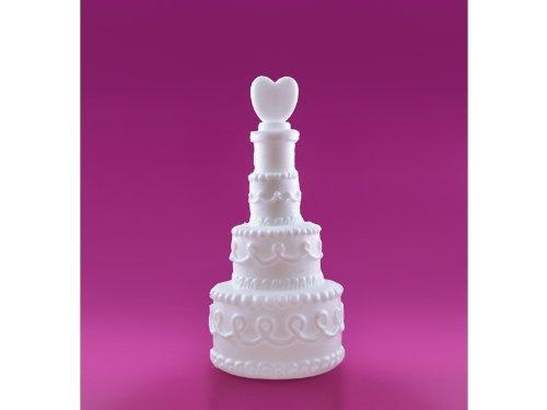 PartyDeco, Bolle di sapone con tubo a forma di torta nuziale, 24 pezzi