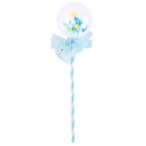 g klare Ballon Racing Flag Kuchen Topper für Weihnachten Geburtstagsfeier Kuchen Dekoration (Blau) ()