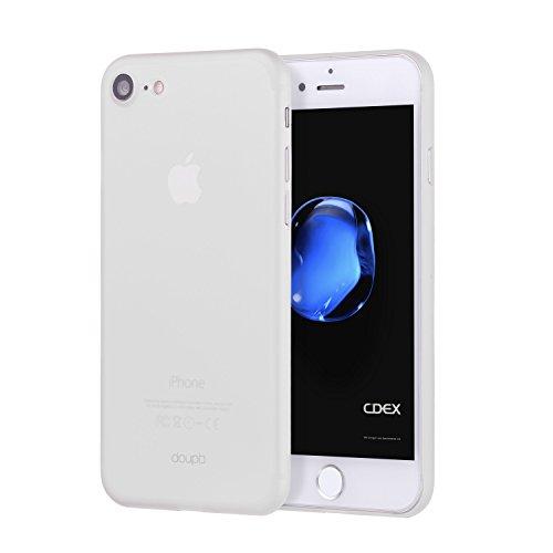 doupi UltraSlim Hülle für iPhone 8/7 (4,7 Zoll), Ultra Dünn Fein Matt Oberfläche Handyhülle Cover Bumper Schutz Schale Hard Case Taschenschutz Design Schutzhülle, weiß -