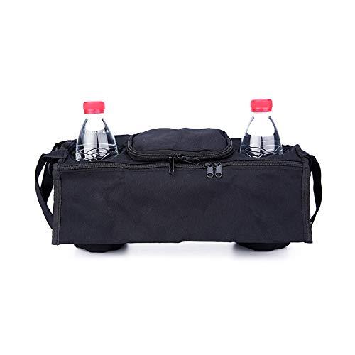DaoRier Carrito organizador Buggy Bag universal Negro Bolso cambiador para bebé Cochecito con soporte...