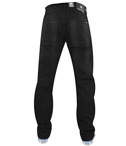 Neue Mens Designer Schraffur Twill Jeans dehnbar Slim Fit Jeans Hose Black