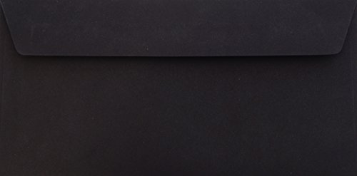 Briefumschläge24Plus 25 Briefumschläge Schwarz Din lang 11 x 22 cm mit Haftstreifen, Grammatur 120 g/m²