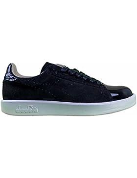Diadora Heritage, Donna, Game S Patient, Suede / Pelle, Sneakers, Nero, 40.5 EU