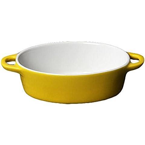 Hosaire 1X Pirofila Monoporzione in Ceramica, giallo