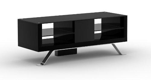 Elmob Arcadia Ar120-11 1200mm Wide Tv Cabinet Av Unit - Black