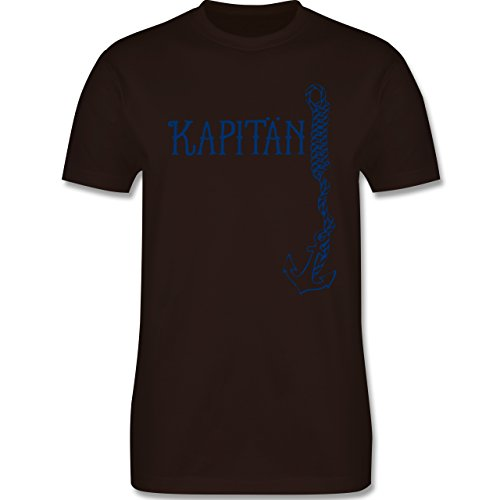 JGA Junggesellenabschied - Kapitän Anker - Herren Premium T-Shirt Braun