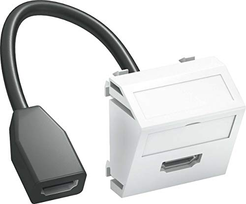 obo-bettermann Systeme Mechanismen–HDMI Multimedia Steckdose mts-hd F weiß