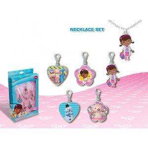 Disney - Doctora Peluche. WD95018. Set pendentifs et colliers