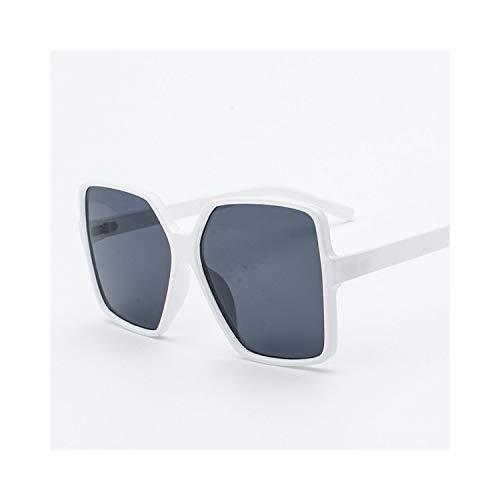 Sportbrillen, Angeln Golfbrille,Black Oversized Sunglasses Women Men NEW Retro Big Square Sun Glasses Brand Designer Vintage Gafas De Sol Mujer C5