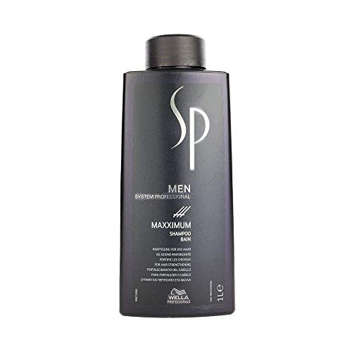 Wella System Professional Shampoo Men Maxximum, Uomo, 1000 ml