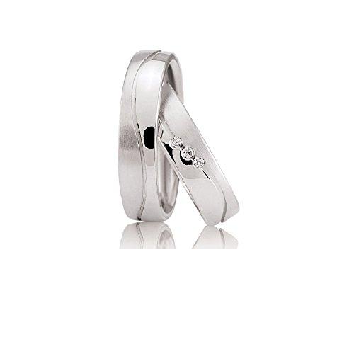 Eheringe Verlobungsringe Trauringe Freundschaftsringe Silber 925 Sterling * inkl. GRATIS Etui und Zirkonia Steine