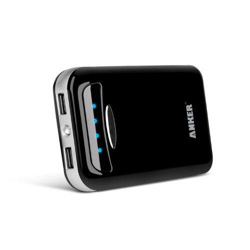Anker® Astro E5 15000mAh Batería Externa Cargador, Doble Puerto (5V / 2A y 5V / 1A) para iPhone 5S, 5C, 5, 4S, 4, iPad 4, 3, 2, iPad mini, iPad mini 2, iPad Air, iPods, Samsung Galaxy S4, S4 Mini, S3, S3 Mini, S2, Note 2, Samsung Galaxy Tab 3, Tab 2, Huawei Ascend Y300, HTC One, Sensation, LG Opti