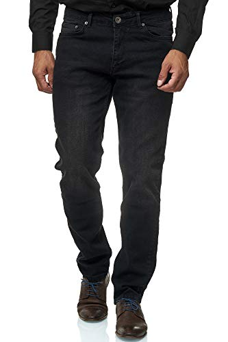 Jeel Herren-Jeans - Slim-Fit - Stretch - Jeans-Hose Basic Washed - 06-Schwarz 36W/32L -