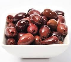 Pitted Kalamata Olives in organic extra virgin olive oil, red