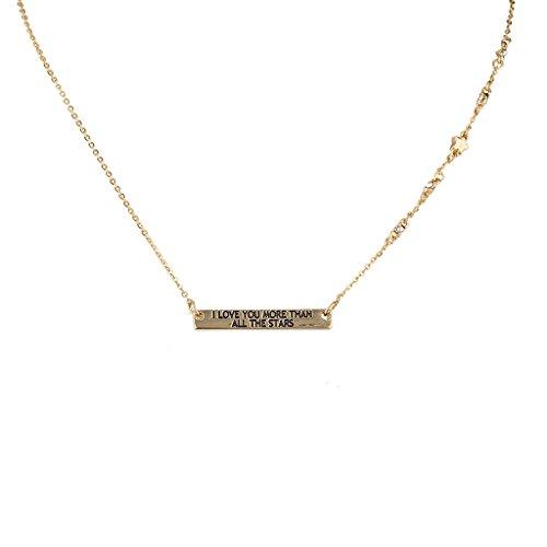 LUX Accessoires, ich liebe sie mehr, als alle Sterne Inspirierende Anhänger Halskette