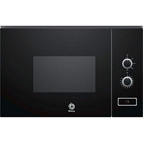 Balay 3CP5002N0 - Microondas integrable / encastre, 800 W, 20 L, color negro