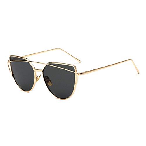 WERERT Sportbrille Sonnenbrillen Sunglasses Women Retro Oversize Sunglasses Female Mirrored Sunglasses