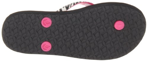 Reef Little Stargazer Lux, Tongs fille Rose (Zebra/Hot Pink)
