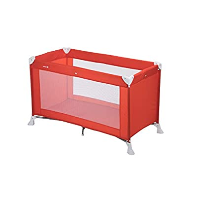 Safety 1st 2114260000 Soft Dreams Travel Umbrella Bed Red Lines