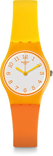 Swatch Damen Digital Quarz Uhr mit Plastik Armband LO112