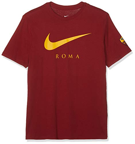 8f537a577 Nike Men's ROMA M NK TEE LARGE SWOOSH T-Shirt, Team Crimson, ...