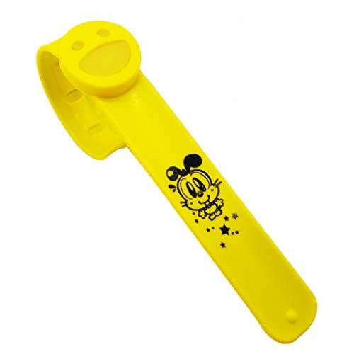 Mückenschutz Armband, Webla, Einrastend Buglet Lächeln Slap Armbändern Moskito Citronellöl, Patentierte Silikon-Padding + Natural Yellow (Ye) - Armband Lächeln