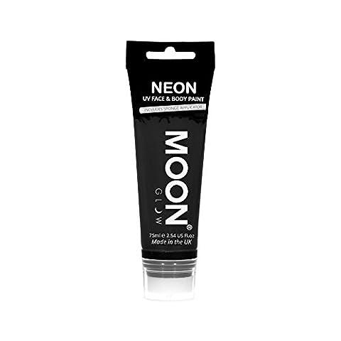 Moon Glow Grande Peinture fluo UV visage & corps. 75 mlNoiravec applicateur éponge