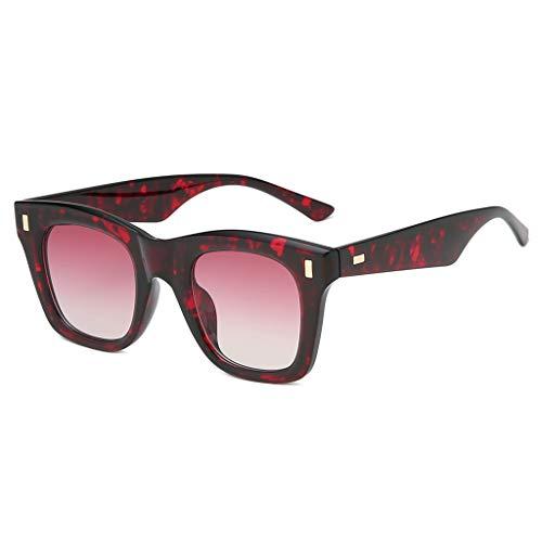 EUCoo Damen Mode Sonnenbrille Integrierte GläSer Quadratischer Breite Sunshade Sunglasses(Mehrfarbig)