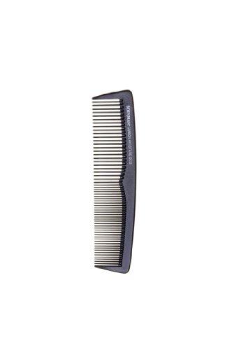 Denman Haar-Taschenkamm DC12, antistatisch dank Karbon, mit abgerundeten Kammzähnen, schwarz