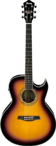 Ibanez jsa20VB Vintage Sunburst + Maletín electroacústica Guitarra acústica folk eléctrico
