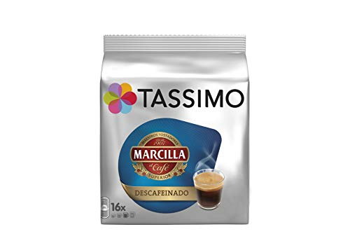 Tassimo Kaffee Marcilla Descafeinado16 Kapseln - 5 Packungen (80 Getränke)