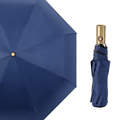 EFKKLM Windabweisend DREI Taschenschirm Regen Frauen Auto Uv Regenschirme Schutz Männer Rahmen Winddicht 8 Karat Sonnenschirm
