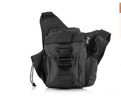 Zll/2015nuova fotocamera borsa tattico esercito fan Sella Borsa tempo libero all' aperto singolo Tracolla Slung, Verde militare nero