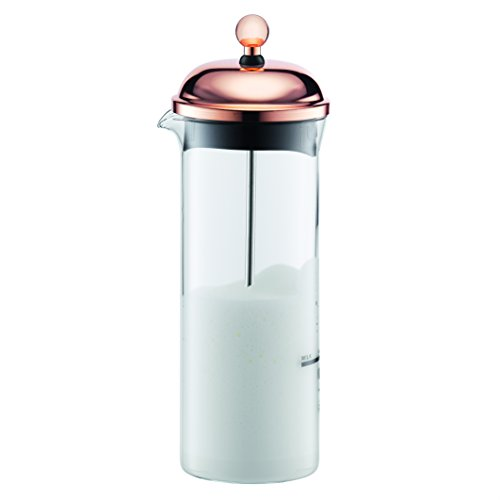 Bodum Chambord 11653-18 frusta di vetro di latte di rame
