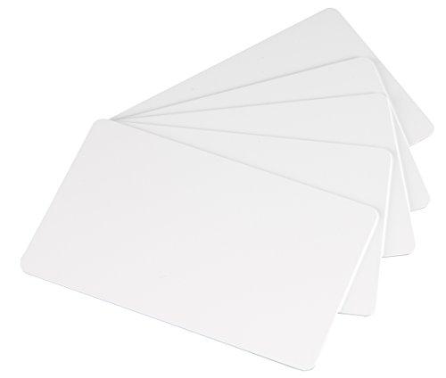 Novo 100 Blanko-Plastikkarten, Weiß (Pvc Laminiert)