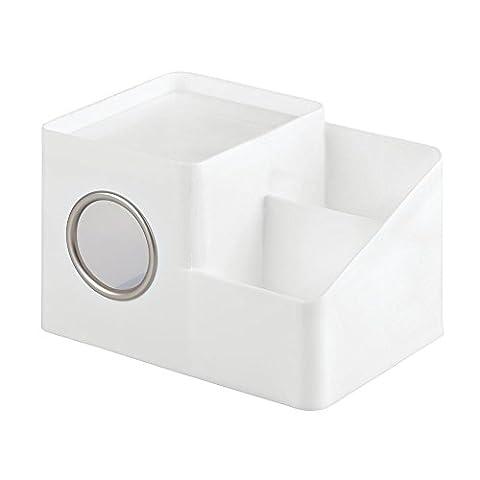 InterDesign (INU8S) Facial Tissue Box Cover And Storage Caddy,– White/Matte