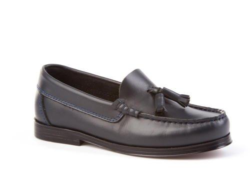 ANGELITOS Boys' Loafer Flats blue navy blue Size: 5