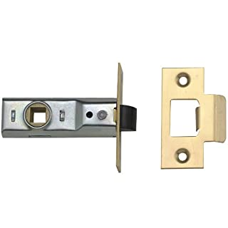 Yale P-M888-PB-76, Tubular  Mortice Latch, Where No Locking is Required, 3 Inch/76 mm - Brass Finish