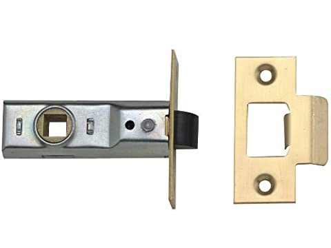 Yale Locks 3PM888PB2Rebated Mortice Latches 64mm 2.5-inch - Polished Brass