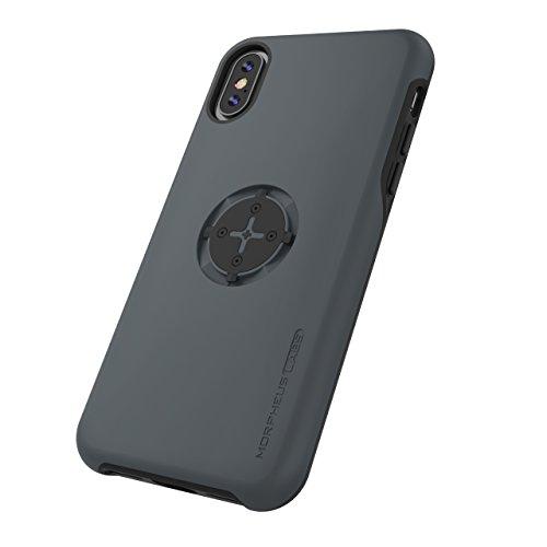 MORPHEUS LABS M4s Case für Apple iPhone X / XS, iPhone XS / iPhone X Hülle, Schutzhülle für iPhone 10 (Fahrradhalterung ist nicht inklusive), passend für M4s BikeMount / Fahrradhalterung, grau