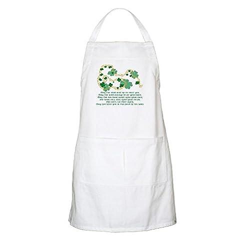 CafePress–Irische Segen BBQ–100% Baumwolle Küche Schürze mit Taschen, perfekt Grillen Schürze oder Backen Schürze weiß