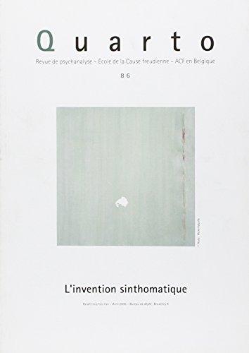 Quarto - numéro 86 L'invention sinthomatique (86) par Collectif