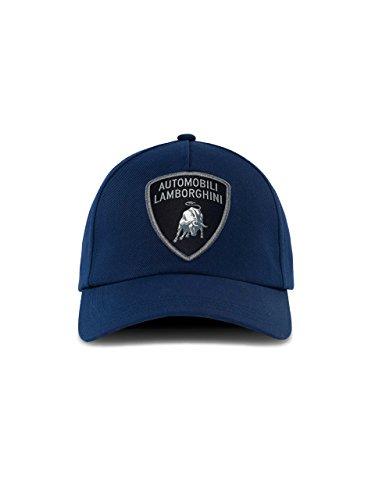 Automobili Lamborghini Herren Shield Cap Blue One Size (Automobil-logo-flag)