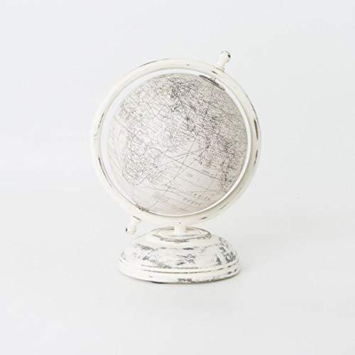 Globo terráqueo blanco de resina de 20cm