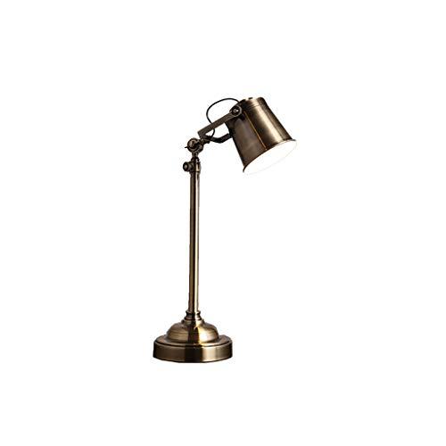 Leuchtmittel QY Schreibtischlampen - Amerikanischen Land Retro Industriellen Stil Schlafzimmer Nachttische Schmiedeeisen Metallarbeit Nostalgie Wohnzimmer Studie Schreibtischlampe Nachttischlampen