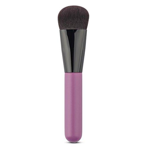Hrph Mode Professionnel Pinceau Fondation Visage Powder Blush Poignée Bois Violet Outil Beauté Cosmétique
