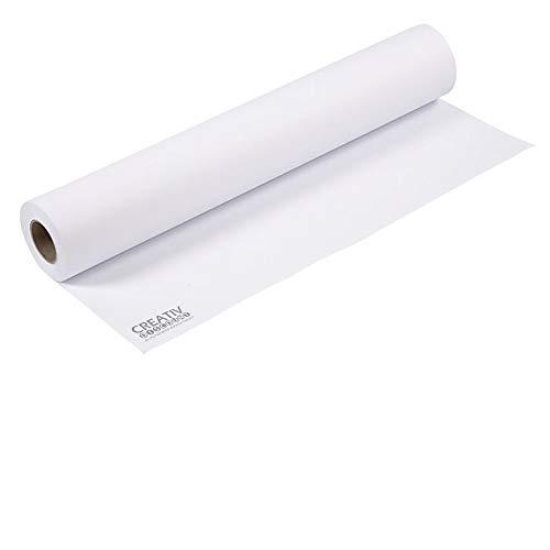 CREATIV DISCOUNT  Zeichenpapier, 100 g/m², weiß, 1 Rolle, 70cm x 10m