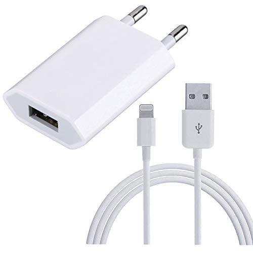 Chargeur Secteur 5W + Câble pour iPhone 6 6S Plus 7 7 Plus 5 5C 5S SE 8 8 Plus X